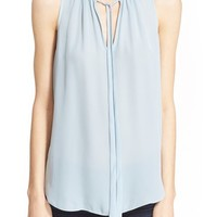 Elizabeth and James 'Katrina' Tie Neck Silk Top | Nordstrom
