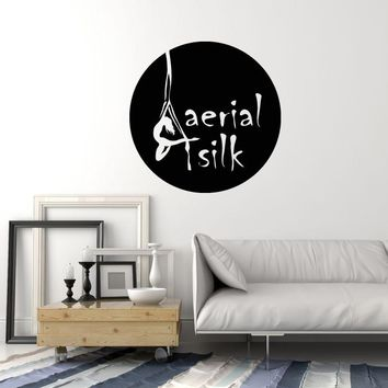 Vinyl Wall Decal Aerial Silk Acrobatics Circus Gymnastic Girl Art Stickers Mural (ig5492)