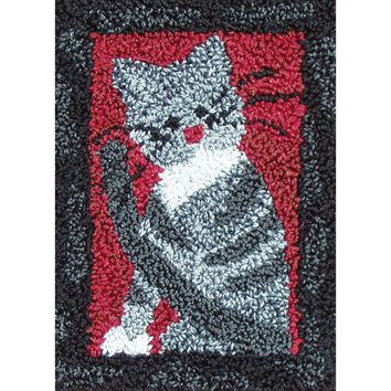 "Small Cat Rachel's of Greenfield Punch Needle Kit 2.5""X3.75"""