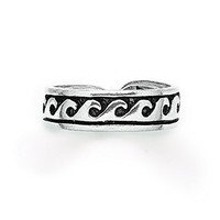 Tomas Jewelry Sterling Silver Waves Toe Ring