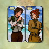 Anastasia and Dimitri Couple Case-iPhone 5, iphone 4s, iphone 4, Samsung GS3, GS4 -Silicone Rubber or Hard Plastic Case, Phone cover
