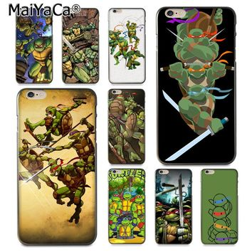 MaiYaCa Ninja Turtle  On Sale Luxury Cool Phone Accessories Case for iPhone 8 7 6 6S Plus X 10 5 5S SE 5C Coque Shell