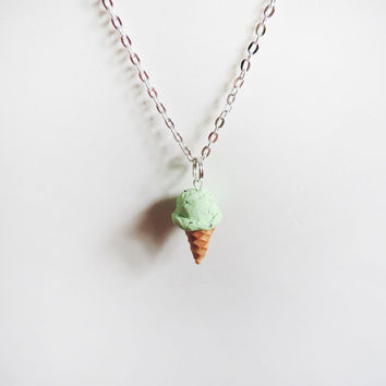Polymer Clay Realistic Miniature Ice Cream Cone by MadAristocrat