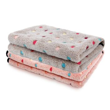 Domestic Delivery Super Cute Blanket For Dogs Colorful Dot Blanket For Pets Mat 2 Size Free Shipping Products For Animals