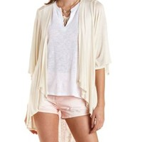 Aztec-Back Cascade Kimono Cardigan by Charlotte Russe