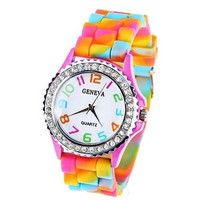 New Fashion Candy Color Kids Children Watch Gifts [9305873415]