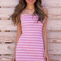 Red Stripe Cami Dress
