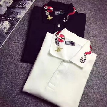 cc spbest gucci red snake t shirt