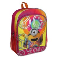 Minions Tie-Dye Peace Sign Backpack - Kids (Pink)