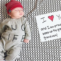 Newborn Baby Boys Girls Rompers Jumpsuit Outfits