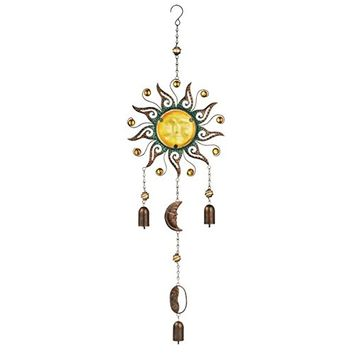 Sunburst and Bells - Wind Chime / Mobile (Sunlight Yellow)