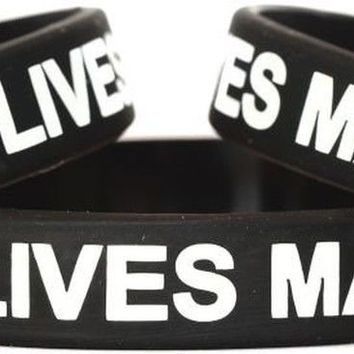 1 Blue Lives Matter Thin Blue Line Silicone Wristband Bracelet Police Officer...