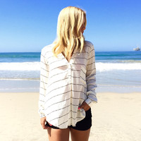 Ace Of Spade Stripe Blouse