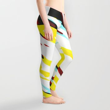 Trippy Panda 8 Leggings by HappyMelvin Graphicus