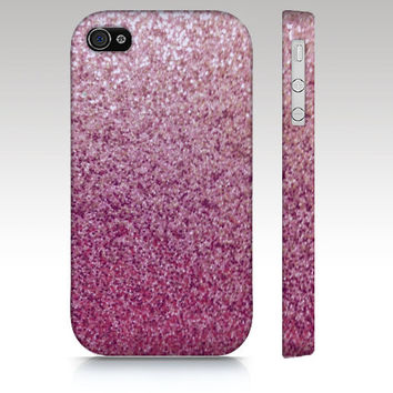 iPhone case, iPhone 4 case, iPhone 5 case, pink glitter case, sparkle case, photo of sparkle. art for your phone