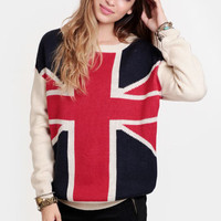 London Calling Graphic Sweater
