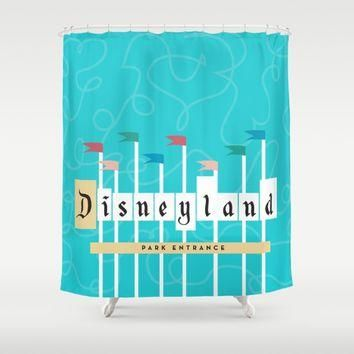 Park Entrance | Disney inspired Shower Curtain by Jordan Blaser | Society6