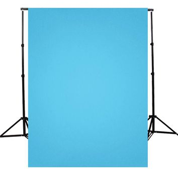 5X7FT solid color Blue Photography Background For Studio Photo Props Photographic Backdrops cloth light weight 1.5x2.1m
