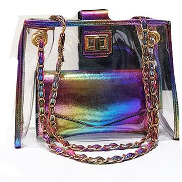 Sparkle Transparent Shoulder Bag