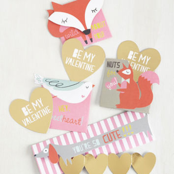 Critters Fauna Fondness Valentine Set by ModCloth