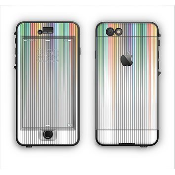The Faded Pastel Color-Stripes Apple iPhone 6 LifeProof Nuud Case Skin Set