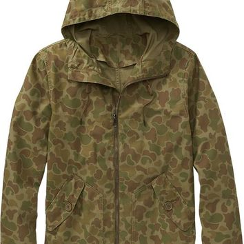 Old Navy Mens Camo Print Hooded Jackets