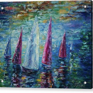 Sails To-night - Acrylic Print