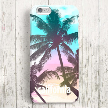 iPhone 6 Case, iPhone 6 Plus Case, iPhone 5S Case, iPhone 5 Case, iPhone 5C Case, iPhone 4S Case, iPhone 4 Case - Pink Palm Tree