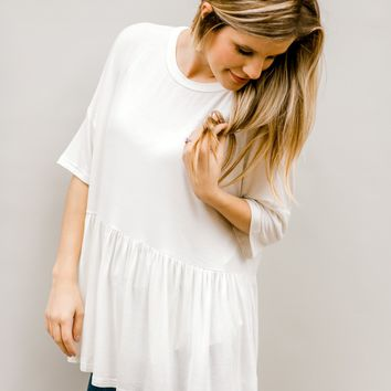 White Out Short Sleeved Top