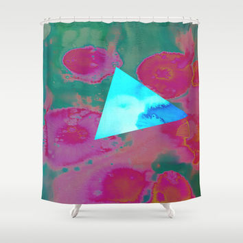 Tri-Again Shower Curtain by DuckyB (Brandi)