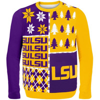 LSU Tigers Busy Block Ugly Sweater – Purple