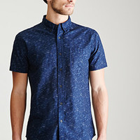 Marl Print Oxford Shirt