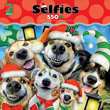 Ceaco Selfies Christmas Pups 550 Piece Jigsaw Puzzle