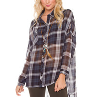 Verana Plaid Top