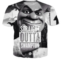 Straight Out Of Swampton Shrek T-Short