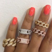 Chain link ring + ID chain link ring
