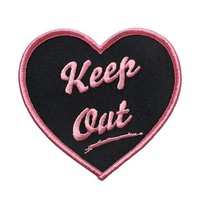 Keep Out Heart Patch