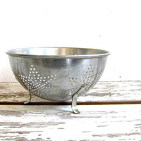 Primitive Collander Old Strainer Star Pattern Punch Work Handles Patina Punched Star Design