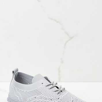 Run Along Grey Knit Sneakers