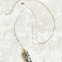 Crystal Capsule Pendant- Gold One
