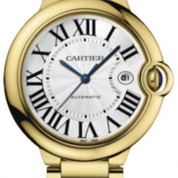 VLX9RV Cartier Ballon Bleu Large 18k Yellow Gold Mens Watch W69005Z2