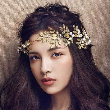 Goddess Rhea Leaf Vine Crown