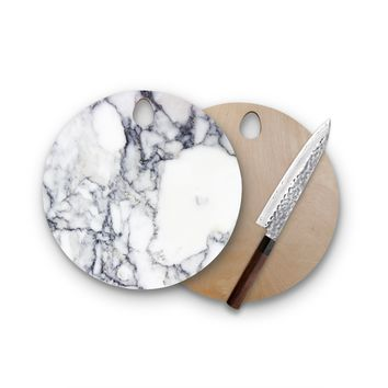 Charcoal Marble Round Cutting Board Trendy Unique Home Decor Cheese Board