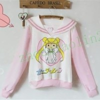 Hot Sailor moon harajuku Mercur Sweater Coats cosplay costume Top Uniform New