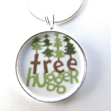 Tree Hugger necklace-,gifts for her,nature.forest, hipster,hippie