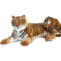 Hansa Bengal Lying Tiger Stuffed Animal