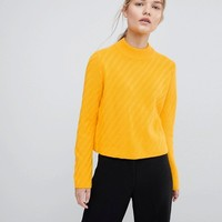 Selected Knitted High Neck Jumper at asos.com