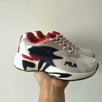 """""""FILA"""" Women All-match Casual Fashion Multicolor Letter Thick Bottom Sneakers Running Shoes"""