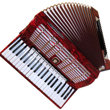 Amazing German Accordion Weltmeister Diana, 120 Bass 11 + 5 Switches, Case, Musical Instrument, 343
