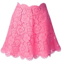 Valentino Floral Lace Skirt